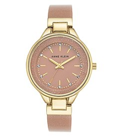 Anne Klein® Shimmer Plastic Watch