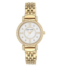 Anne Klein® Crystal Bracelet Watch