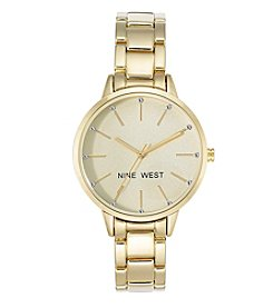 Nine West® Round Goldtone Bracelet Watch
