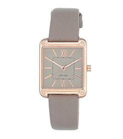 Nine West® Square Rose Goldtone Strap Watch