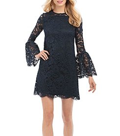 Nicole Miller New York Lace Bell Sleeve Dress