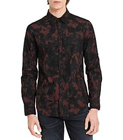 Calvin Klein Jeans Men's Long Sleeve Camo Print Shirt