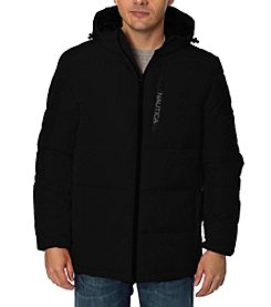 Nautica Men's Quilted Hooded Puffer