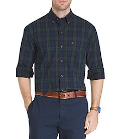 IZOD Men's Tartan Long Sleeve Button Down