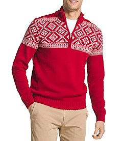 IZOD Men's Long Sleeve Fair Isle Pullover Sweater