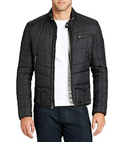 William Rast Men's Ratso Moto Puffer Jacket