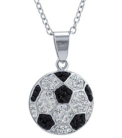 Athra Silvertone Soccer Ball Necklace