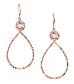 Athra Rose Goldtone Teardrop Earrings