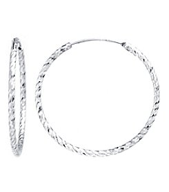 Athra Sterling Silver Hoop Earrings