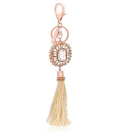 GUESS Rose Goldtone Gold Tassel Charm Key Ring