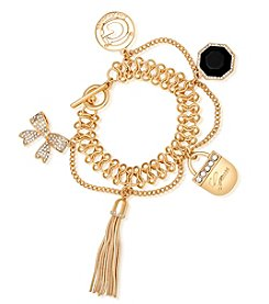 GUESS Goldtone Large Jet Crystal Bracelet