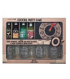 BarPlus Cocktail Party Spinner Game and Mixes Gift Set