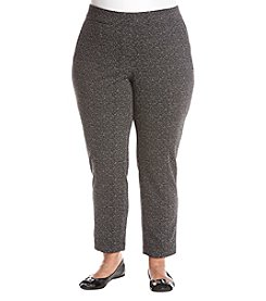 Rafaella Plus Size Donegal Jacquard Pants