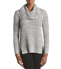 Rafaella Cowl Neck Boucle Sweater