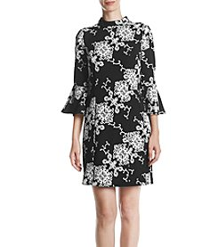 Adrianna Papell Fit And Flare Sleeve Dress