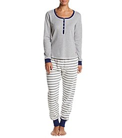 Tommy Hilfiger Thermal Striped Pajama Set
