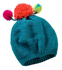 Miss Attitude Girls' 4-6X Slouch Beanie With Multi Poms