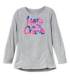 adidas Girls' 7-16 Long Sleeve Here To Create Top