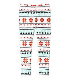 Carter's Girls' 4-8 Fair Isle Cozy Fleece Leggings