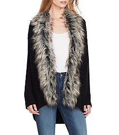 Jessica Simpson Faux Fur Collar Sweater