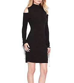 Jessica Simpson Topenga Lace Up Sleeve Cold Shoulder Dress