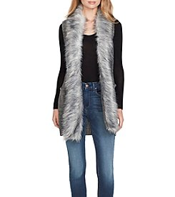 Jessica Simpson Faux Fur Collar Sweater Vest