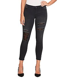 Jessica Simpson Black Wash Distressed Ankle Skinny Jeans