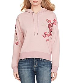 Jessica Simpson Bressa Embroidered Hoodie Sweatshirt
