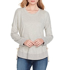 Jessica Simpson Tippy Lace Up Cold Shoulder Sweatshirt Top