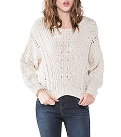 Silver Jeans Co. Cropped Cableknit Sweater