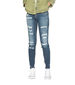 Silver Jeans Co. Suki Skinny Destructed Jeans