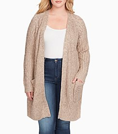 Jessica Simpson Plus Size Ribbed Cardigan