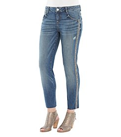Democracy Sparkle Detail Skinny Ankle Jeans