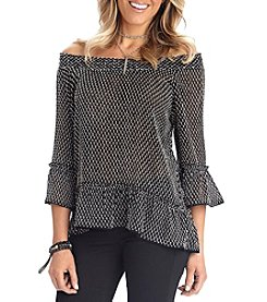 Democracy Bell Sleeve Off The Shoulder Top