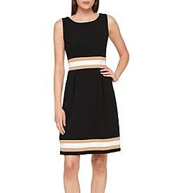 Tommy Hilfiger Colorblocked Stripe Pattern Dress