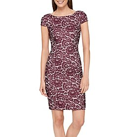 Tommy Hilfiger Cap Sleeve Print Dress