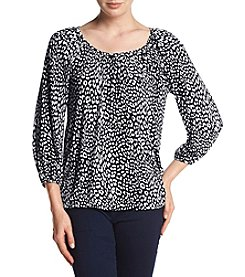 MICHAEL Michael Kors® Petites' Cheetah Peasant Top