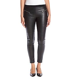 MICHAEL Michael Kors® Petites' Faux Leather Moto Leggings