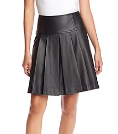 MICHAEL Michael Kors® Petites' Faux Leather Pleated Skirt