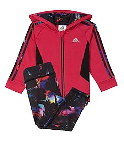 adidas® Baby Girls' Hooded Tricot Jacket Set