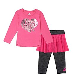 adidas® Baby Girls' All Heart Long Sleeve Tee and Skirted Leggings Set