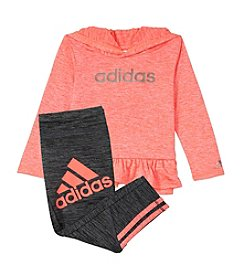 adidas® Baby Girls' Peplum Hoodie and Leggings Set