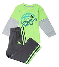 adidas® Baby Boys' 3M-9M Basketball Legend Set