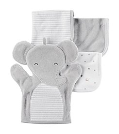 Carter's 4-Pack Elephant Washcloth Set