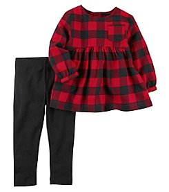 Carter's Baby Girls' Checkered Top and Leggings Set