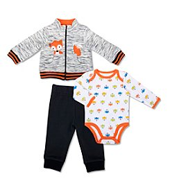 Cuddle Bear® Baby Boys' 3 Piece Fox Jacket And Pants set
