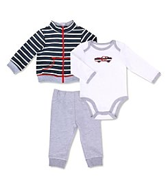 Cuddle Bear® Baby Boys' 3M-24M 3 Piece Cars Jacket & Pants set