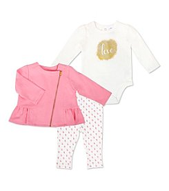 Cuddle Bear® Baby Girls' 3 Piece Love Jacket and Pants set