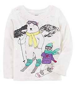 Carter's® Baby Girls' Long Sleeve Polar Bear Tee