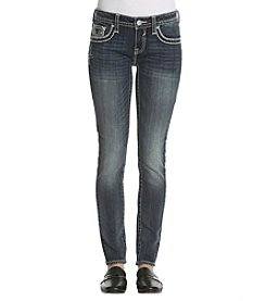 Vigoss Embellished Flap Pocket Bootcut Jeans